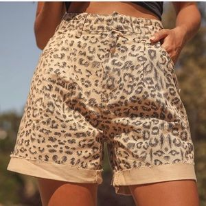 NWT Free People Cheetah Printed Dogtown Cut Off